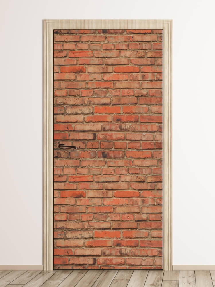 Fototapeta Na Drzwi 06 Cegła Mur Ceglany