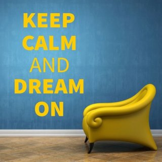 nakleja keep calm and dream on 1946