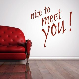 naklejka 03X 16 nice to meet you 1741