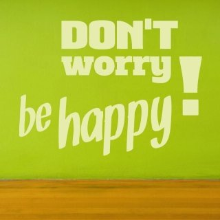 naklejka 03X 17 don't worry be happy 1719
