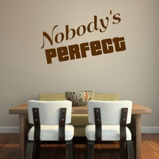 naklejka 03X 19 nobody's perfect 1730