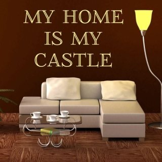 naklejka 03X 21 my home is my castle 1727