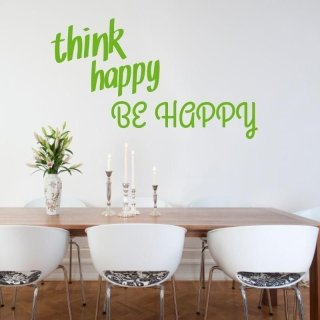 naklejka 03X 21 think happy be happy 1744