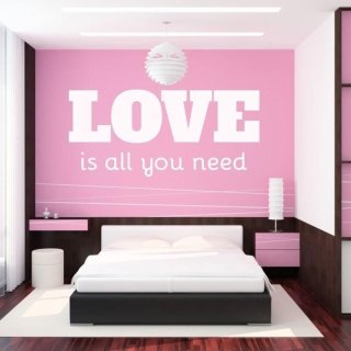 naklejka 03X 24 love is all you need 1723
