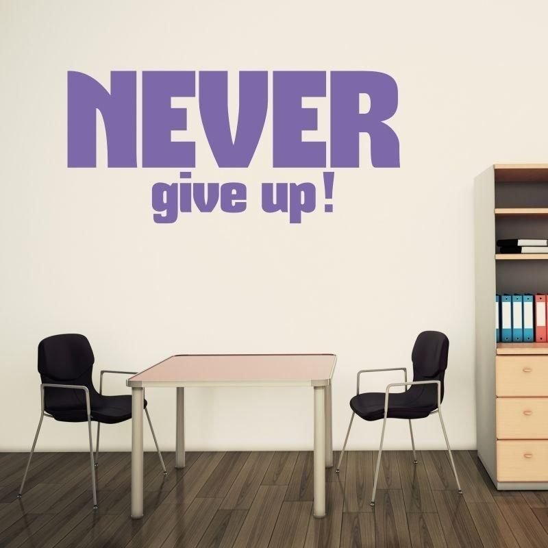 naklejka 03X 24 never give up 1716