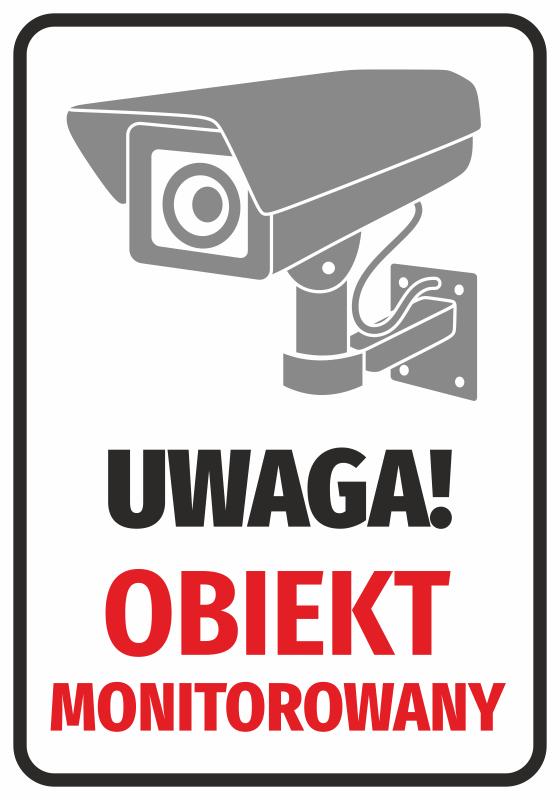 Naklejka Obiekt monitorowany