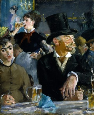 Reprodukcja At the Cafe, Edouard Manet