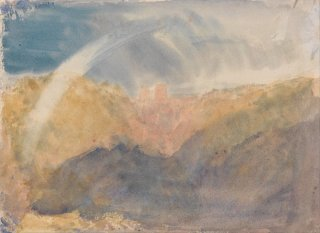 Reprodukcja Crichton Castle, Mountainous Landscape with a Rainbow, William Turner
