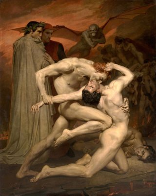Reprodukcja Dante and Virgil in Hell, William-Adolphe Bouguereau