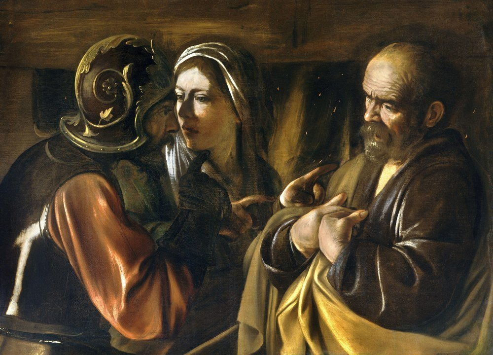 Reprodukcja Denial of Saint Peter, Michelangelo Caravaggio