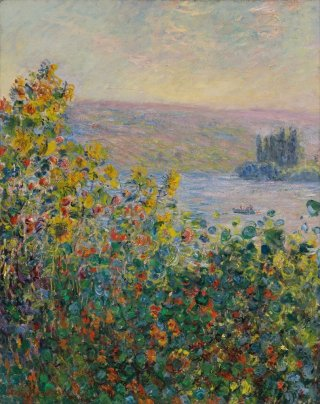 Reprodukcja Flower Beds at Vetheuil, Claude Monet