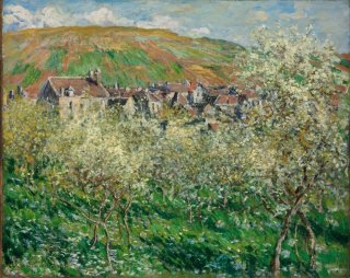 Reprodukcja Flowering Plum Trees, Claude Monet