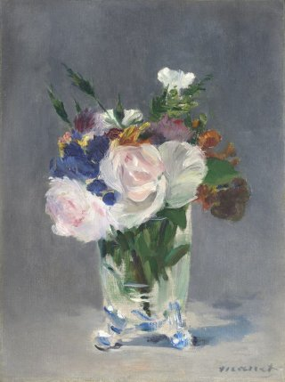 Reprodukcja Flowers in a Crystal Vase, Edouard Manet