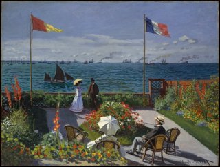 Reprodukcja Garden at Sainte-Adresse, Claude Monet
