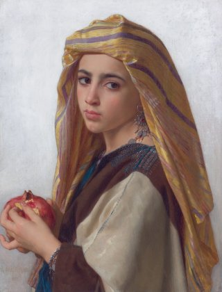 Reprodukcja Girl with a pomegranate, William-Adolphe Bouguereau