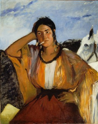 Reprodukcja Gypsy with a Cigarette, Edouard Manet