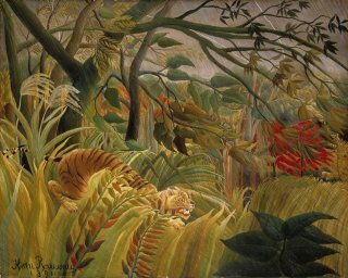 Reprodukcja iger in a Tropical Storm - Surprised!, Henri Rousseau