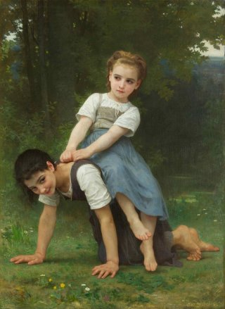 Reprodukcja La Bourrique, William-Adolphe Bouguereau