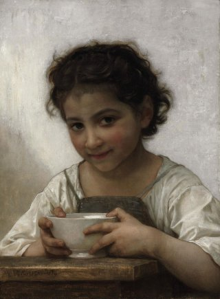 Reprodukcja La soupe au lait, William-Adolphe Bouguereau