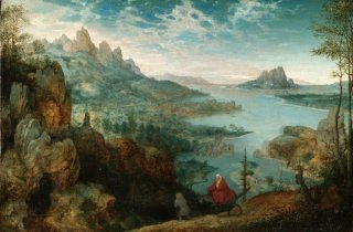 Reprodukcja Landscape with the flight into Egypt, Pieter Bruegel
