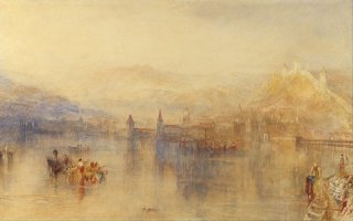Reprodukcja Lucerne from the Lake, William Turner