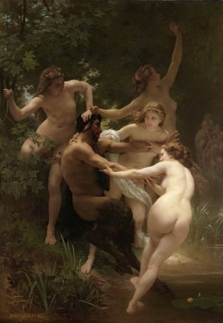 Reprodukcja Nymphs and Satyr, William-Adolphe Bouguereau