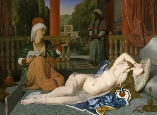 Reprodukcja Odalisque with Slave, Jean Auguste Dominique Ingres