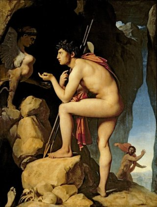 Reprodukcja Oedipus and the Sphinx, Jean Auguste Dominique Ingres