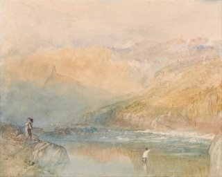 Reprodukcja On the Mosell, Near Traben Trarbach, William Turner