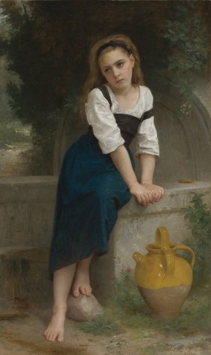 Reprodukcja Orphan by a Spring, William-Adolphe Bouguereau