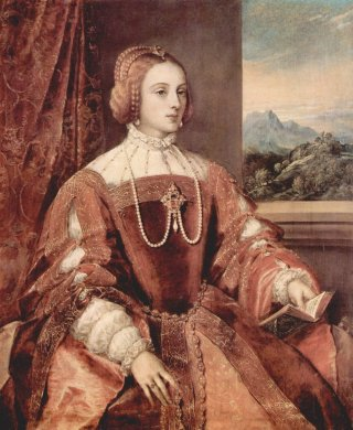 Reprodukcja Portrait of Isabella of Portugal, Tycjan