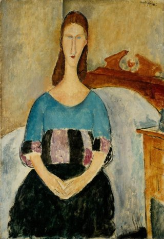 Reprodukcja Portrait of Jeanne Hebuterne, Seated, 1918, Amedeo Modigliani