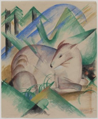 Reprodukcja Red Deer, Franz Marc