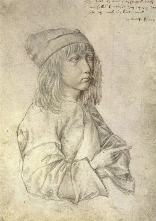 Reprodukcja Self-portrait at the age of thirteen, Albrecht Durer