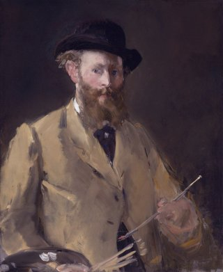 Reprodukcja Self-portrait with palette, Edouard Manet