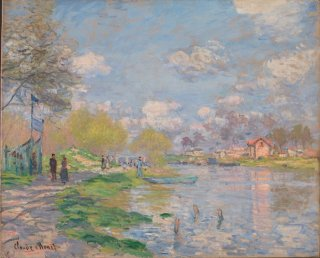 Reprodukcja Spring by the Seine, Claude Monet