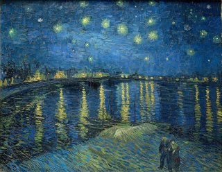 Reprodukcja Starry night over the Rhone, Vincent van Gogh