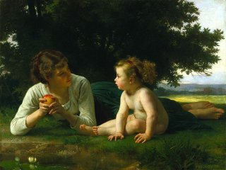 Reprodukcja Temptation, William-Adolphe Bouguereau