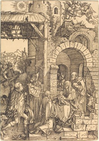 Reprodukcja The Adoration of the Magi, Albrecht Durer