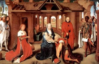 Reprodukcja The Adoration of the Magi, Hans Memling