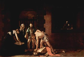 Reprodukcja The beheading of St. John the Baptist, Michelangelo Caravaggio