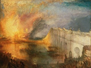Reprodukcja The Burning of the Houses of Lords and Commons, William Turner