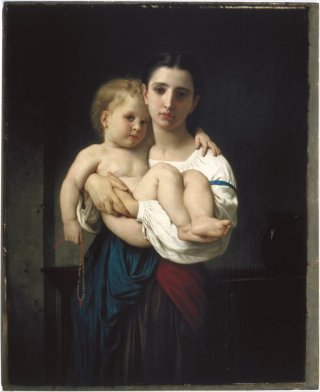 Reprodukcja The Elder Sister, reduction (La soeur ainee, reduction) William-Adolphe Bouguereau