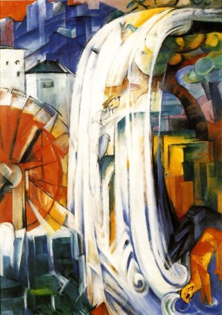 Reprodukcja The enchanted mill, Franz Marc