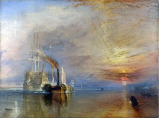 Reprodukcja The Fighting Temeraire tugged to her last Berth to be broken up, William Turner