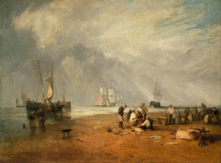 Reprodukcja The Fish Market at Hastings Beach, William Turner