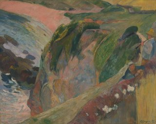 Reprodukcja The Flageolet Player on the Cliff, Gauguin Paul