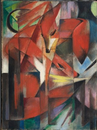 Reprodukcja The Foxes, Franz Marc