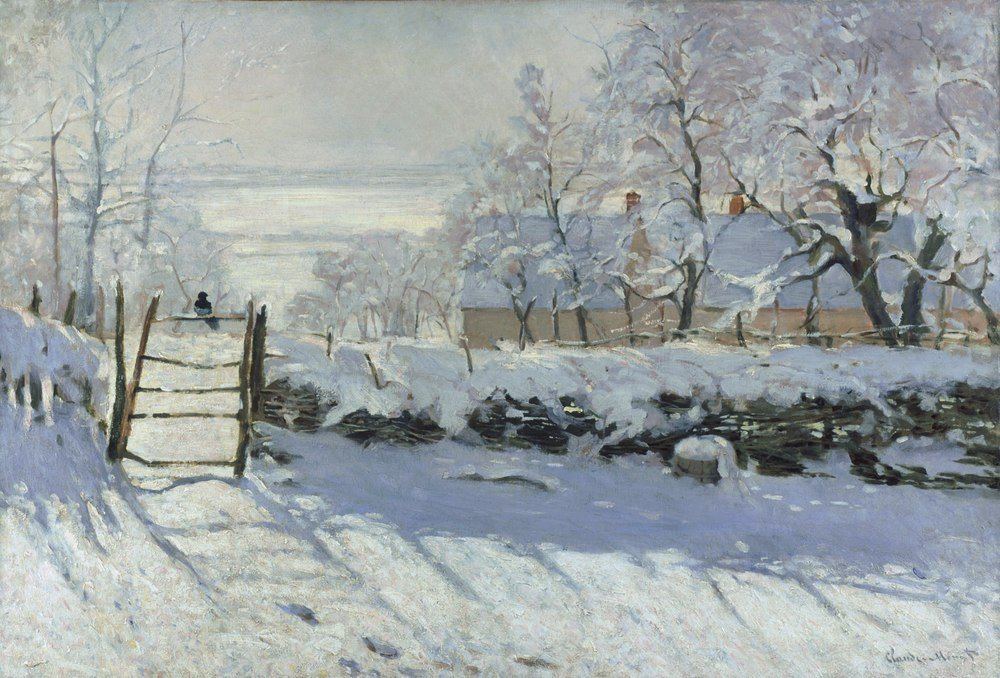 reprodukcja The Magpie, Claude Monet