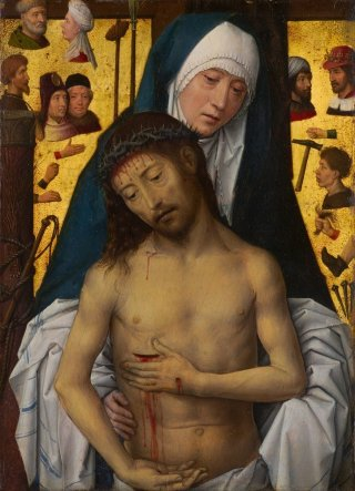Reprodukcja The Man of Sorrows in the arms of the Virgin, Hans Memling